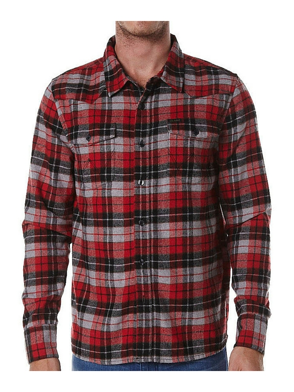 WRANGLER SEATTLE LS SHIRT - VINO