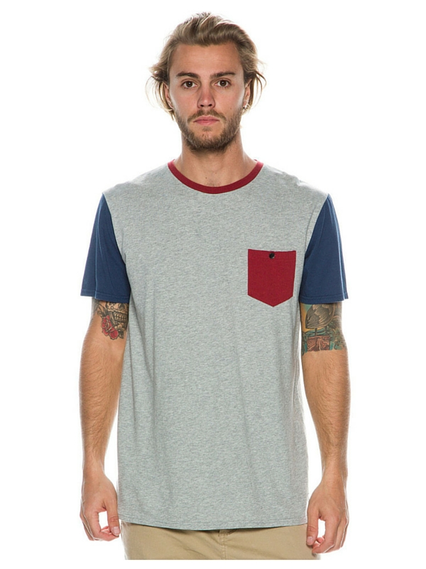 QUIKSILVER BAYSICK POCKET TEE