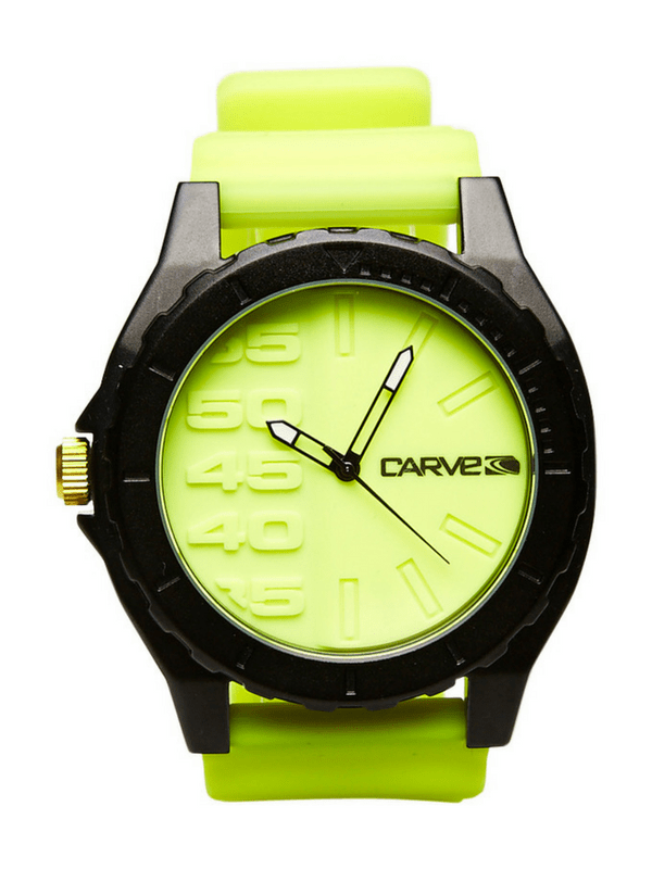 CARVE MINDER 10 ATM WATCH - FLURO