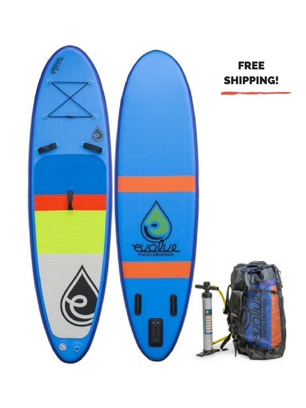 EVOLVE INFLATABLE AIR HEADED CRUISING SUP BOARD BLUE (1)
