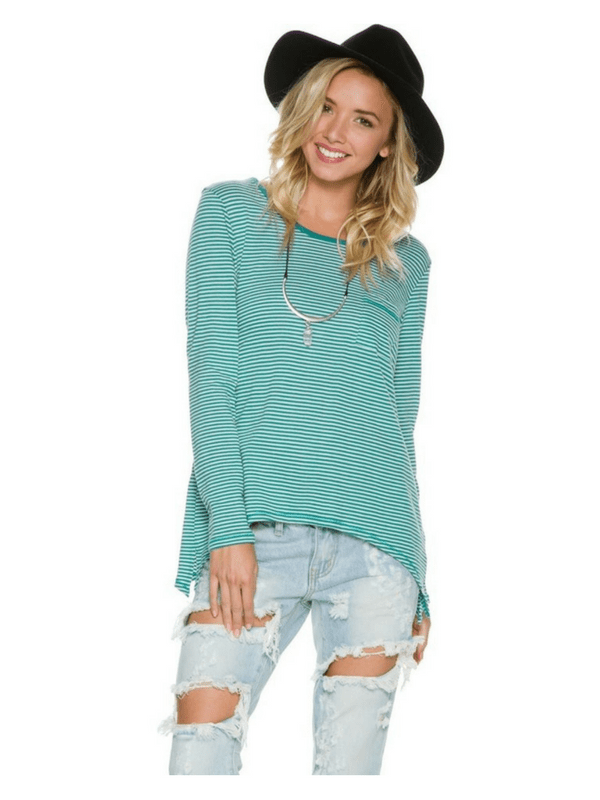 VOLCOM LIVED IN STRIPE LS TEE
