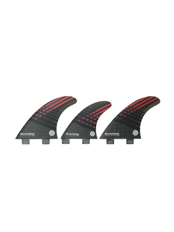 shapers-fins-fcs-carbon-hybrid-carvn-series-6-fin-set-medium-smoke-%2f-red