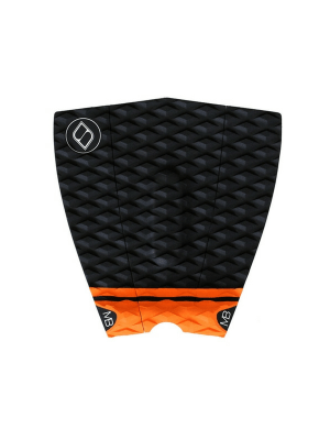 46c7ccfebf552 SHAPERS MATT BANTING KICKER 3-PIECE SURFBOARD TRACTION TAILPAD BLACK  ORANGE