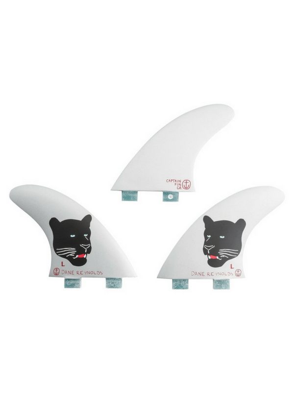 CAPTAIN FIN DANE REYNOLDS LARGE DUAL TAB THRUSTER SURFBOARD FINS