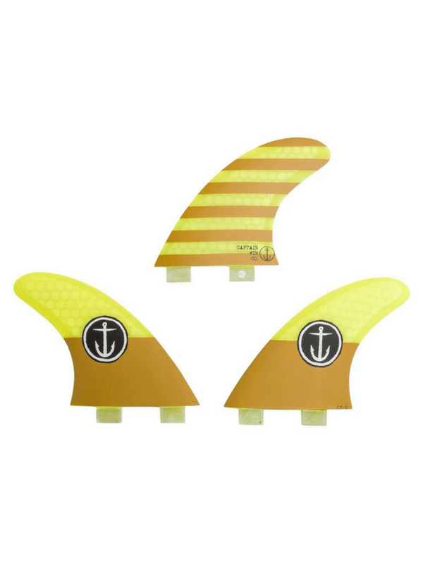CAPTAIN FIN SMALL THRUSTER DUAL TAB SURFBOARD FINS