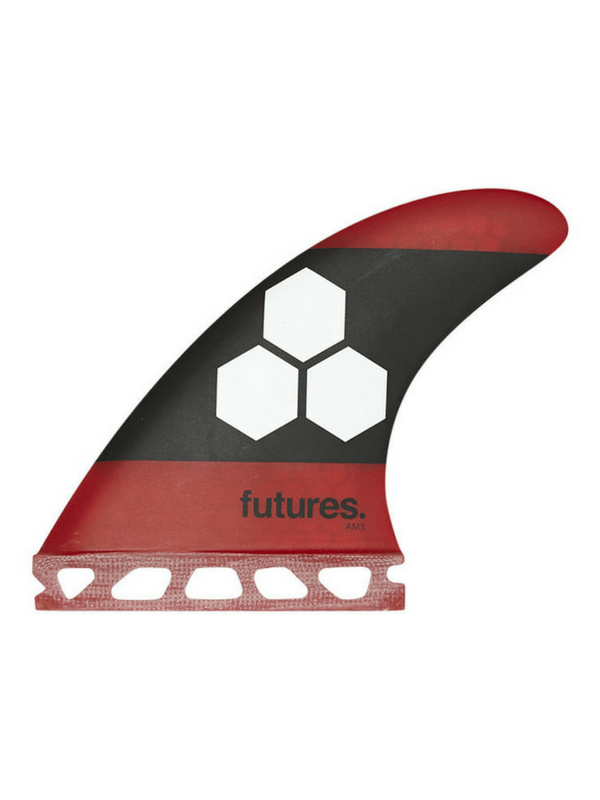 FUTURES FINS AM3 HC SMALL THRUSTER SURFBOARD FIN SET RED