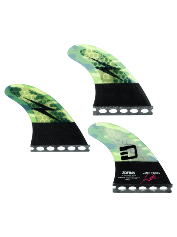 3D O'BRIEN CHANNEL TIP TECH CAMO MED FULL-BASE FINS