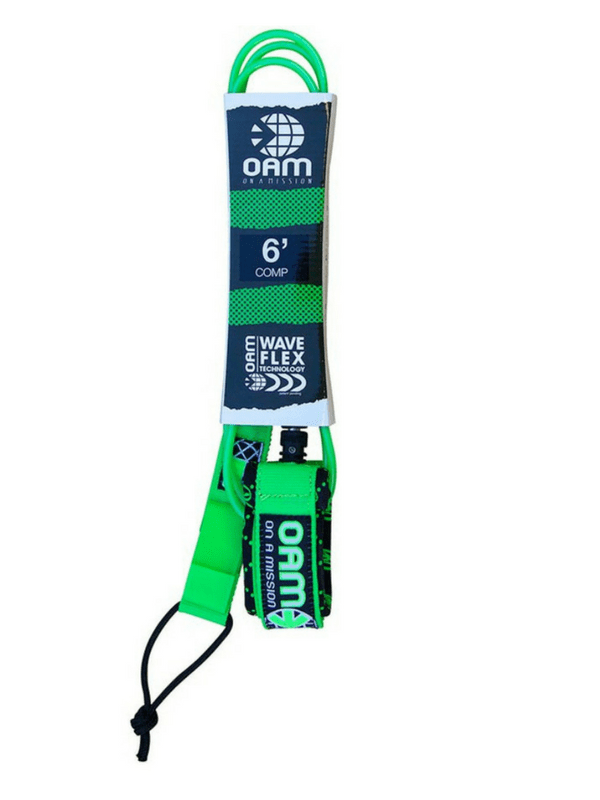 ON A MISSION 6' COMP SURF LEASH - GREEN
