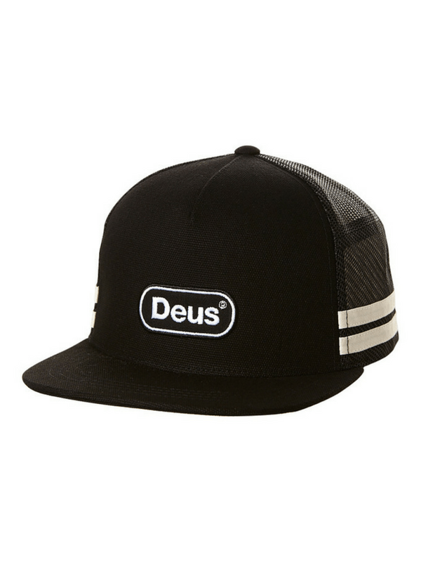 DEUS EX MACHINA CAPSULE TRUCKER CAP - BLACK