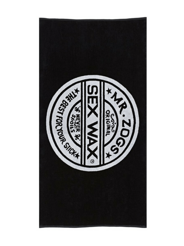 MR. ZOGS SEX WAX BEACH TOWEL - BLACK