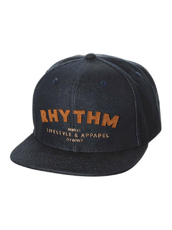 RHYTHM PARK SNAPBACK CAP - INDIGO