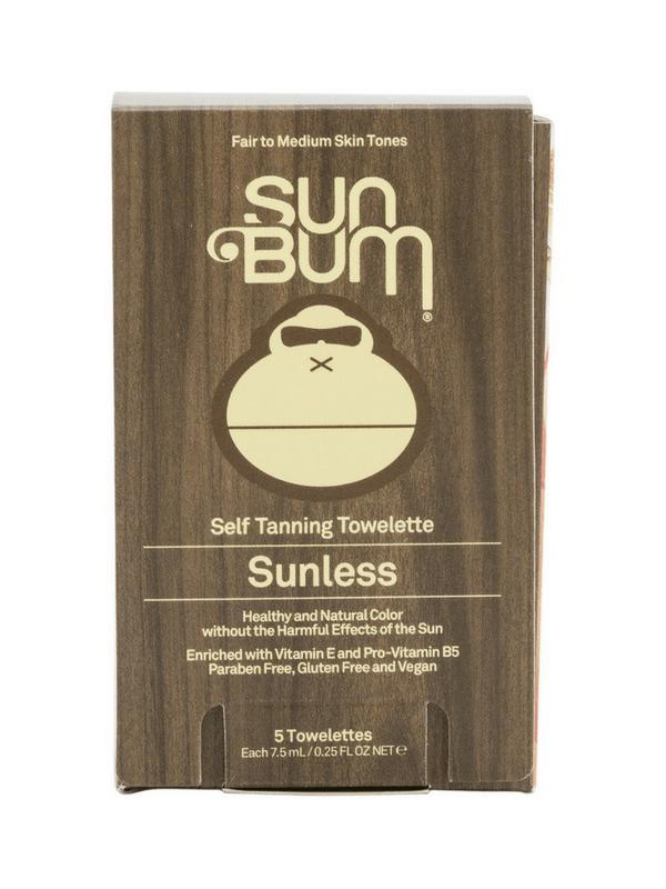 SUN BUM SUNLESS TANNING TOWELETTES