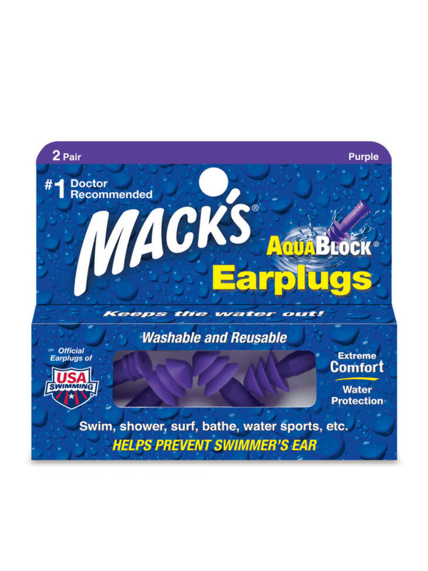 MACK'S AQUABLOCK EAR PLUGS - 2 PAIR
