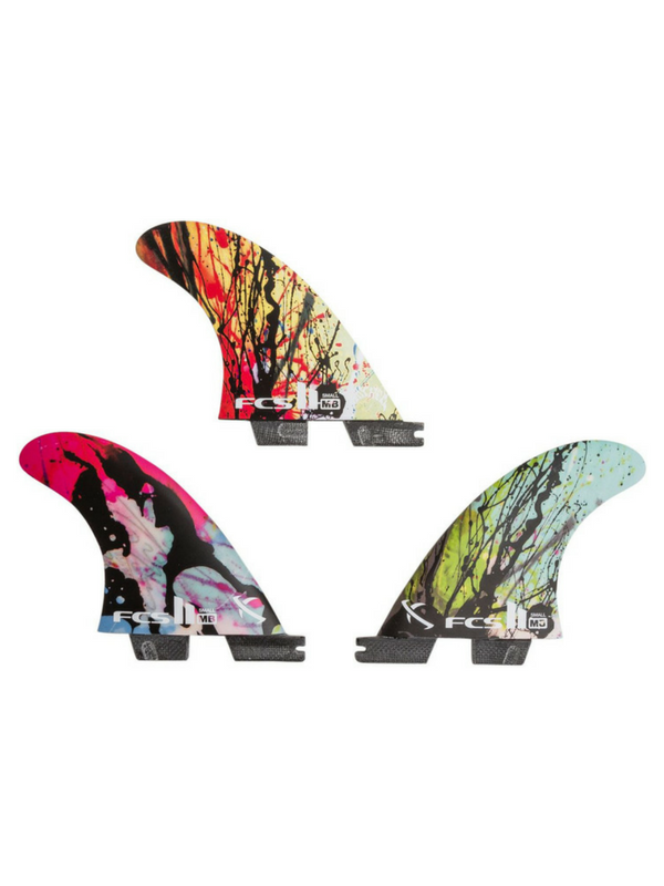 FCS II MB PC Small Graphic Tri fins