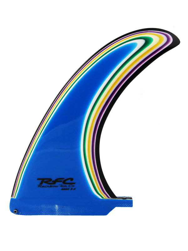 Rainbow Fin Co Rake 9.0 Multi-Layered Color