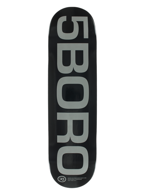 5BORO EXT LOGO DECK-8.0 BLACK_GREY