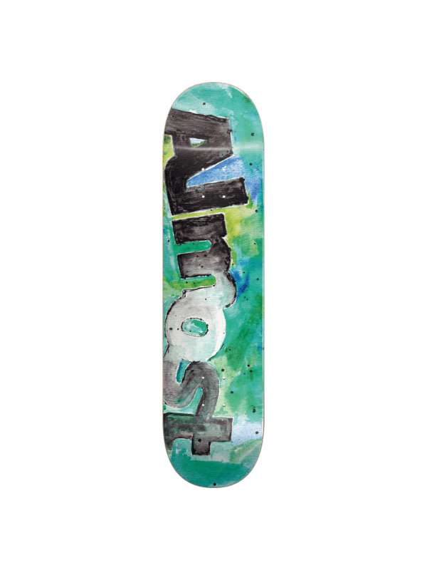 ALM COLOR BLEED DECK-8.0 TEAL ppp