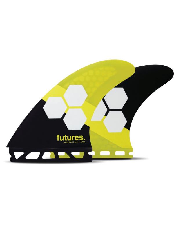 FUTURE FINS AM2 HONEYCOMB THRUSTER - YELLOW_BLACK