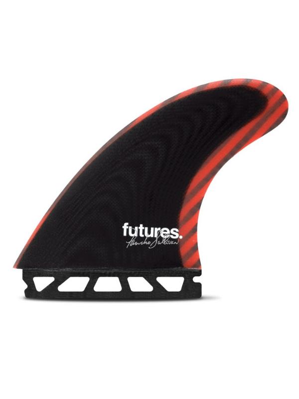FUTURE FINS PANCHO SULLIVAN CONTROL SERIES FIBERGLASS THRUSTER - BLACK_RED