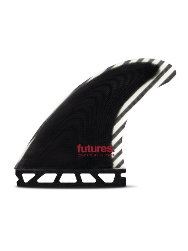 FUTURE FINS PYZEL MEDIUM CONTROL SERIES FIBERGLASS THRUSTER – BLACK_WHITE