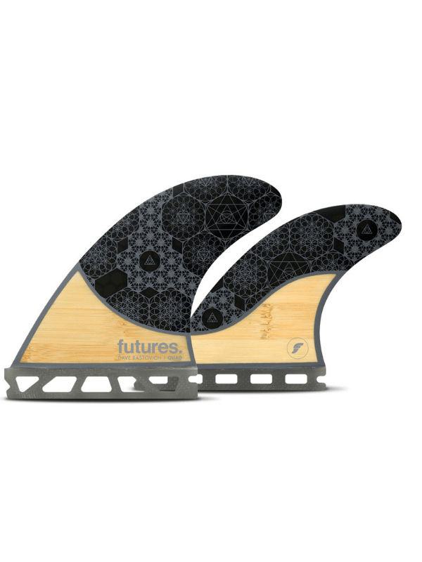 FUTURE FINS RASTA HONEYCOMB QUAD – BAMBOO_GREY