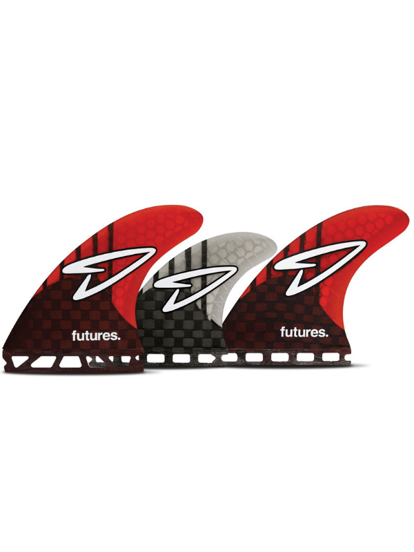 FUTURE FINS ROBERTS V2 MED GENERATION SERIES 5 FIN - CARBON_RED_SMOKE