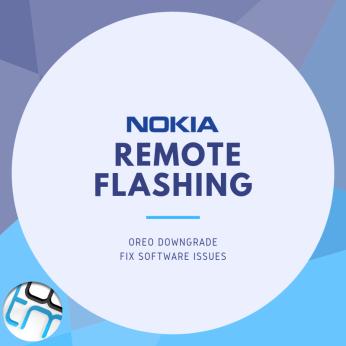 Nokia remote flashing service