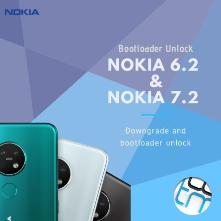 Downgrade service for Nokia 6.2 and 7.2 for bootloader unlocking