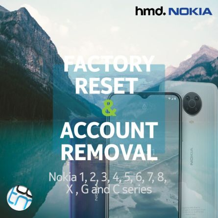 Nokia phones factory reset and account remove remote service