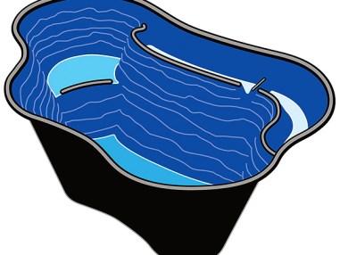 Teichschale Calmus SII, Fertigteich, Teich, Gartenteich, Fischteich, Teichbau