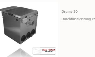 SBA Trommelfilter Drumy 50, Teichfilter, Filtertechnik, Teich