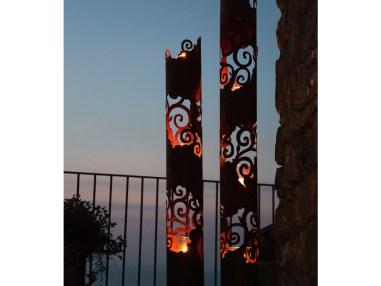 Leuchtsäule Venezia rost, Gartendekoration