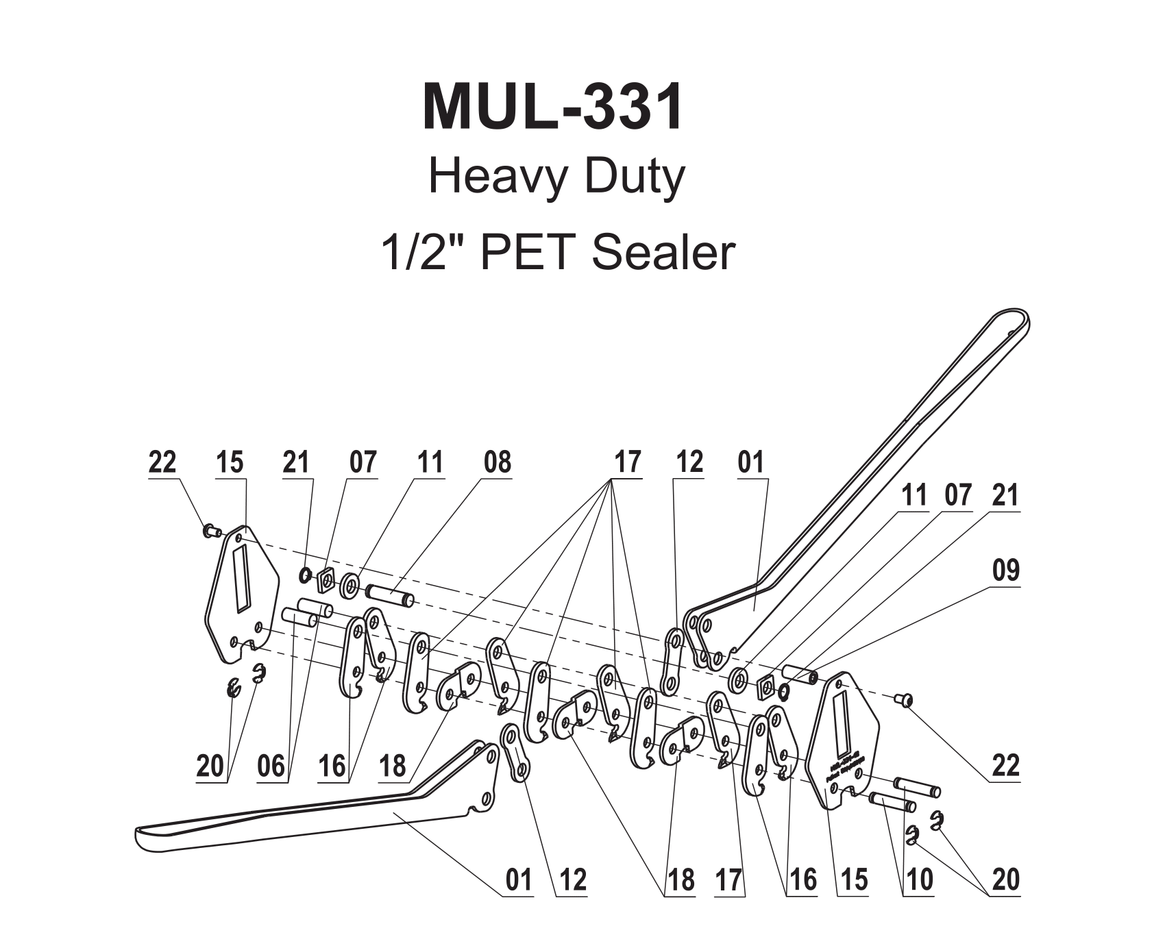 Parts For Mul 331 Heavy Duty Symmetrical Sealer For
