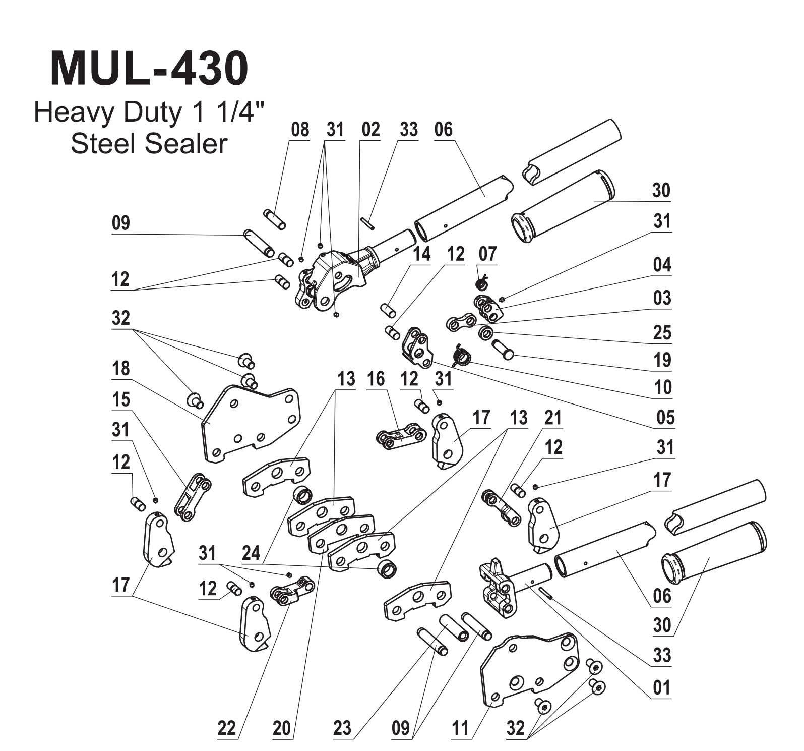 Parts For Mul 430 Heavy Duty Dual Action Sealer For Steel Strapping