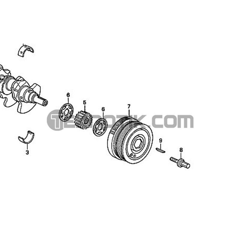 OEM Honda Crankshaft Pulley Teknotik