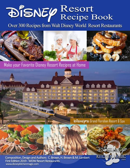 Disney Resort Recipe Book - First Edition 2019 - Cover
