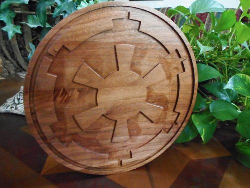 Galactic Empire Logo - Black Walnut