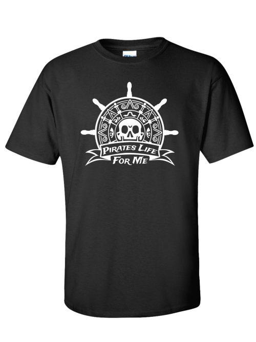 Pirates Life for Me Black T-Shirt