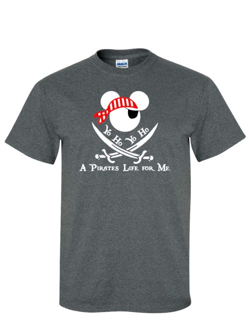 Mickey Pirate of the Caribbean Grey T-Shirt
