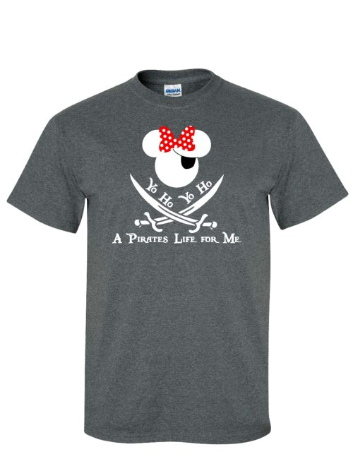 Minnie Pirate of the Caribbean Grey T-Shirt