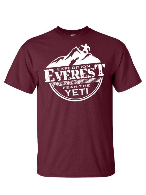 Everest - Fear the Yeti Maroon T-Shirt