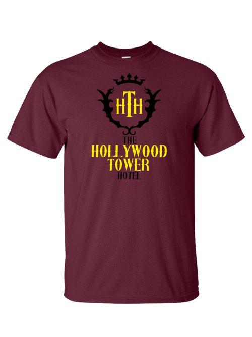 Hollywood Tower of Terror Hotel Maroon T-Shirt