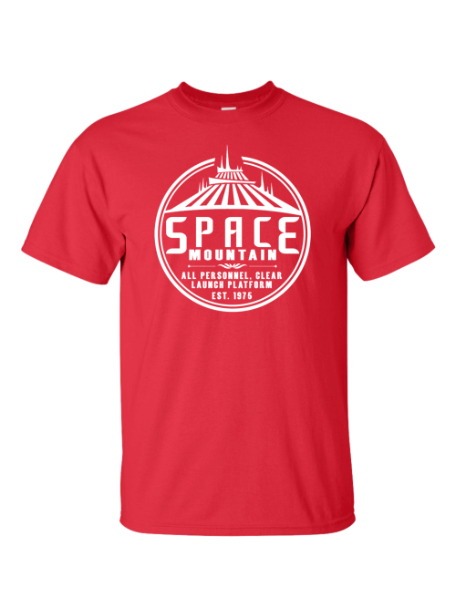 Space Mountain Red T-Shirt