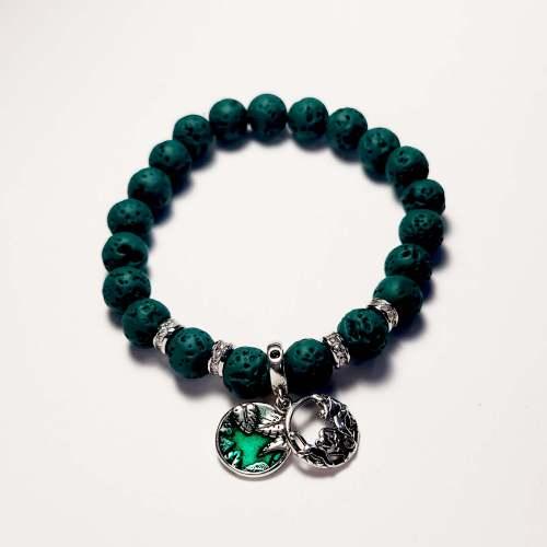 Hakuna Matata Lava Bead Bracelet