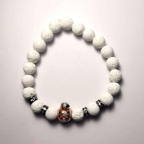 BB8 Lava Bead Bracelet