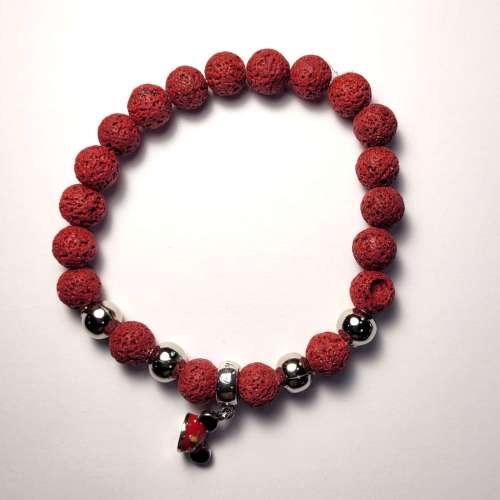 Mickey Lava Bead Bracelet