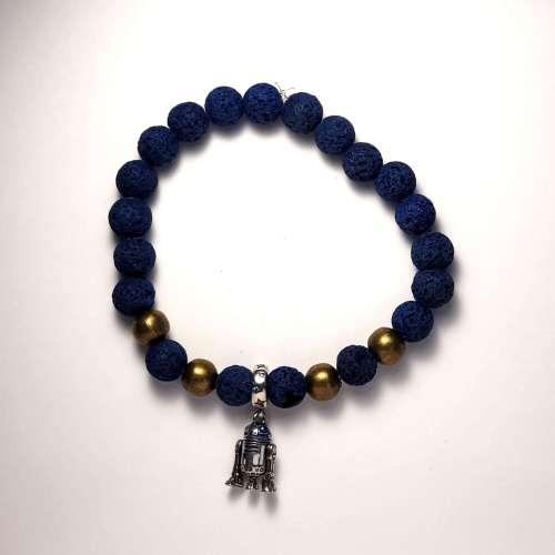 R2D2 Lava Bead Bracelet