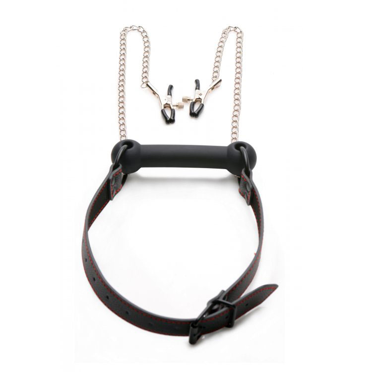 Mouth Gag And Nipple Chain