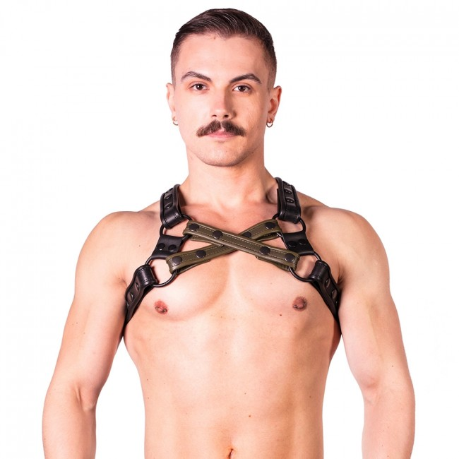 Prowler RED Cross Harness Black/Green