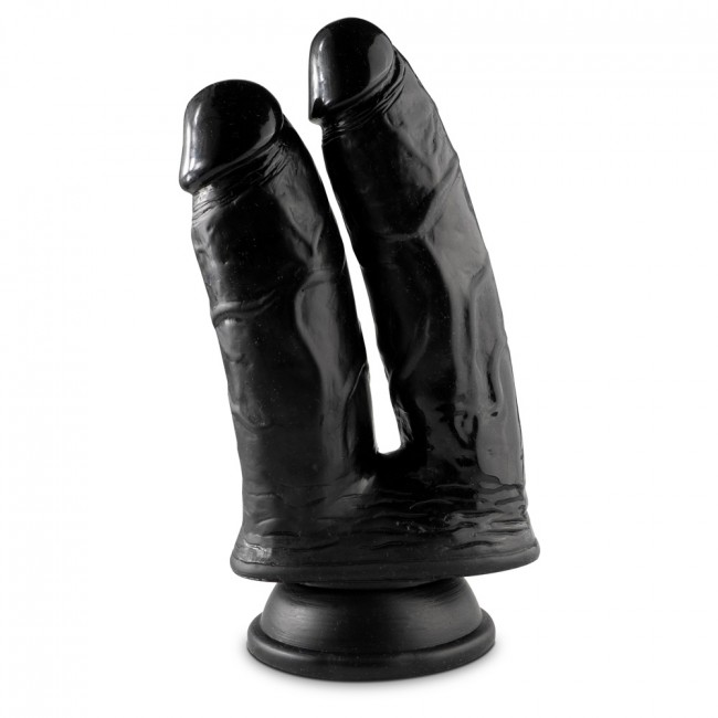 Mr Cock Double Cock Black 23cm